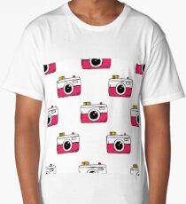 camera seamless doodle pattern Long T-Shirt