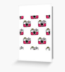 camera seamless doodle pattern Greeting Card
