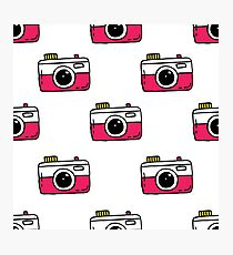 camera seamless doodle pattern Photographic Print
