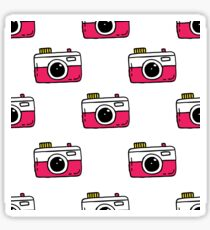 camera seamless doodle pattern Sticker