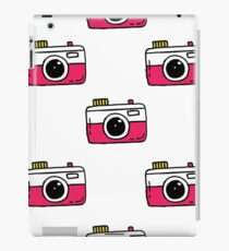 camera seamless doodle pattern iPad Case/Skin