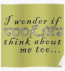 Thinking about cookies Poster
