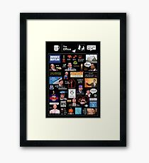 The Office US Montage Framed Print