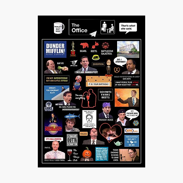 The Office US Montage Photographic Print