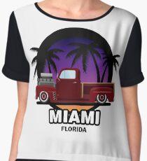 Miami muscle car Women's Chiffon Top