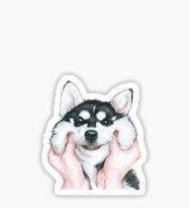 Smiley Husky Sticker