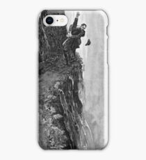 Sydney Paget - Fantastic print from Sherlock Holmes The Final Problem / Reichenbach Falls iPhone Case/Skin