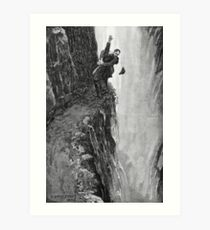 Sydney Paget - Fantastic print from Sherlock Holmes The Final Problem / Reichenbach Falls Art Print