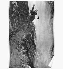 Sydney Paget - Fantastic print from Sherlock Holmes The Final Problem / Reichenbach Falls Poster