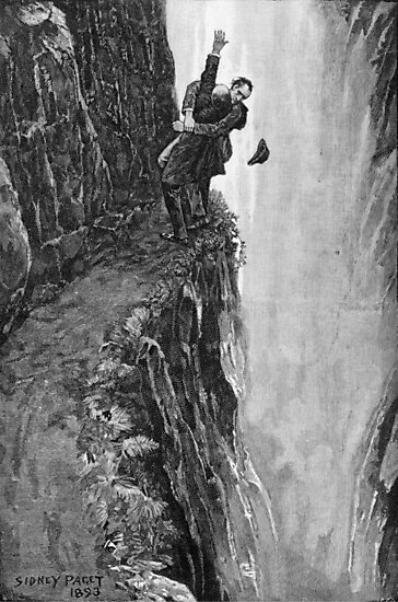 Sydney Paget - Fantastic print from Sherlock Holmes The Final Problem / Reichenbach Falls by verypeculiar