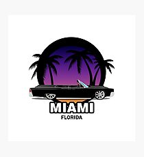 Miami muscle car Photographic Print