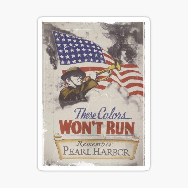 Zirni Pearl Harbor Remembrance Day USA Stamp Sticker Decal Design