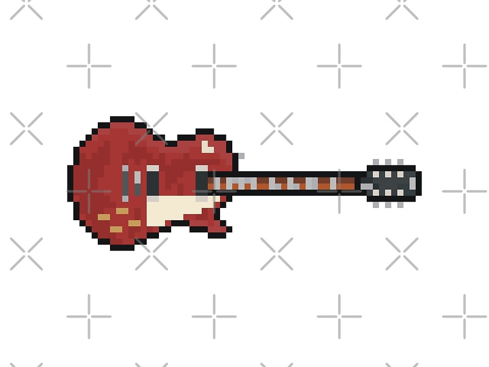 Pixel Red Page Deluxe #3 Guitar by gkillerb