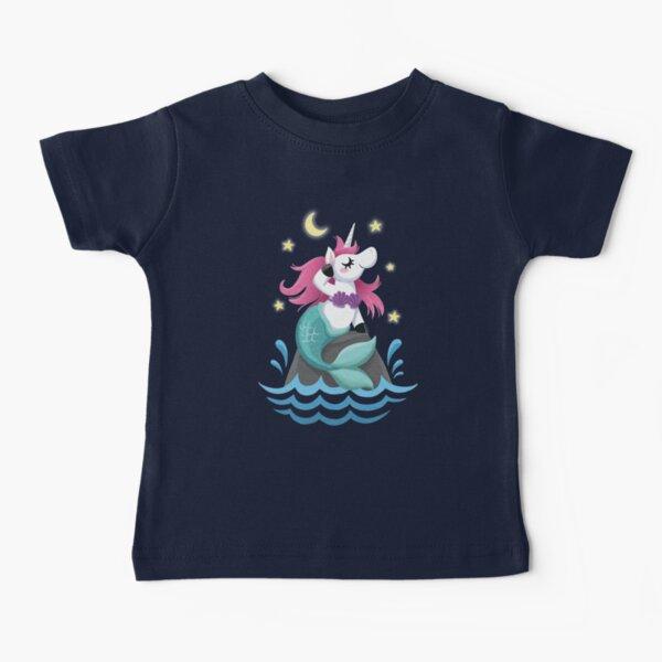 Cute Girls Unicorn Mermaid Cartoon Baby T-Shirt