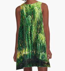 Trippy Willow Tree A-Line Dress