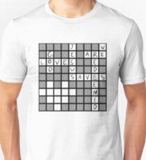 God Loves, Jesus Saves Crossword Design T-Shirt