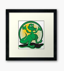 Reptile Rock Framed Print