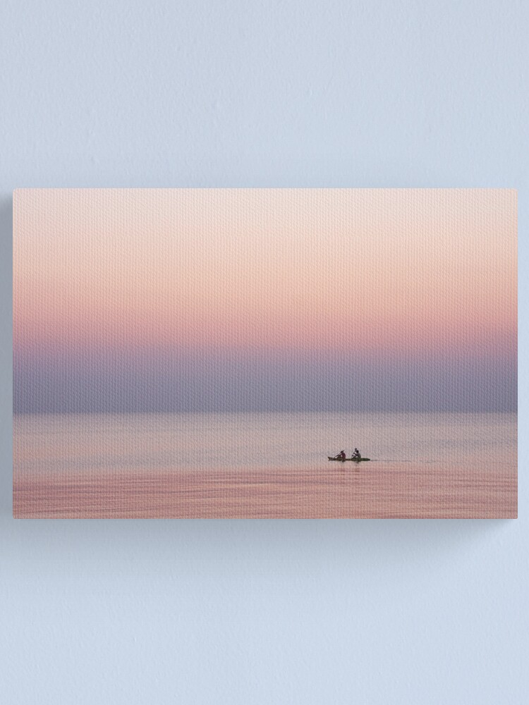 Alternate view of Twilight canooists Canvas Print