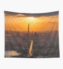 Tianjin City Sunrise  Wall Tapestry