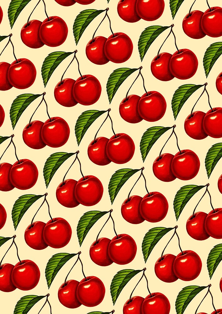Cherry Pattern by Kelly  Gilleran