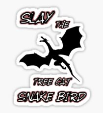 Jordan Peterson Slay The Tree Cat Snake Bird Sticker