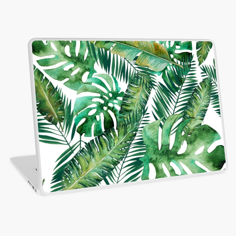 Monstera Banana Palm Leaf Laptop Skin