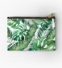 Monstera Banana Palm Leaf Studio Pouch