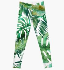 Monstera Banana Palm Leaf Leggings