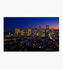 San Francisco City At Night  Photographic Print