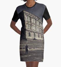 Alcatraz Prison (Black And White)   Graphic T-Shirt Dress