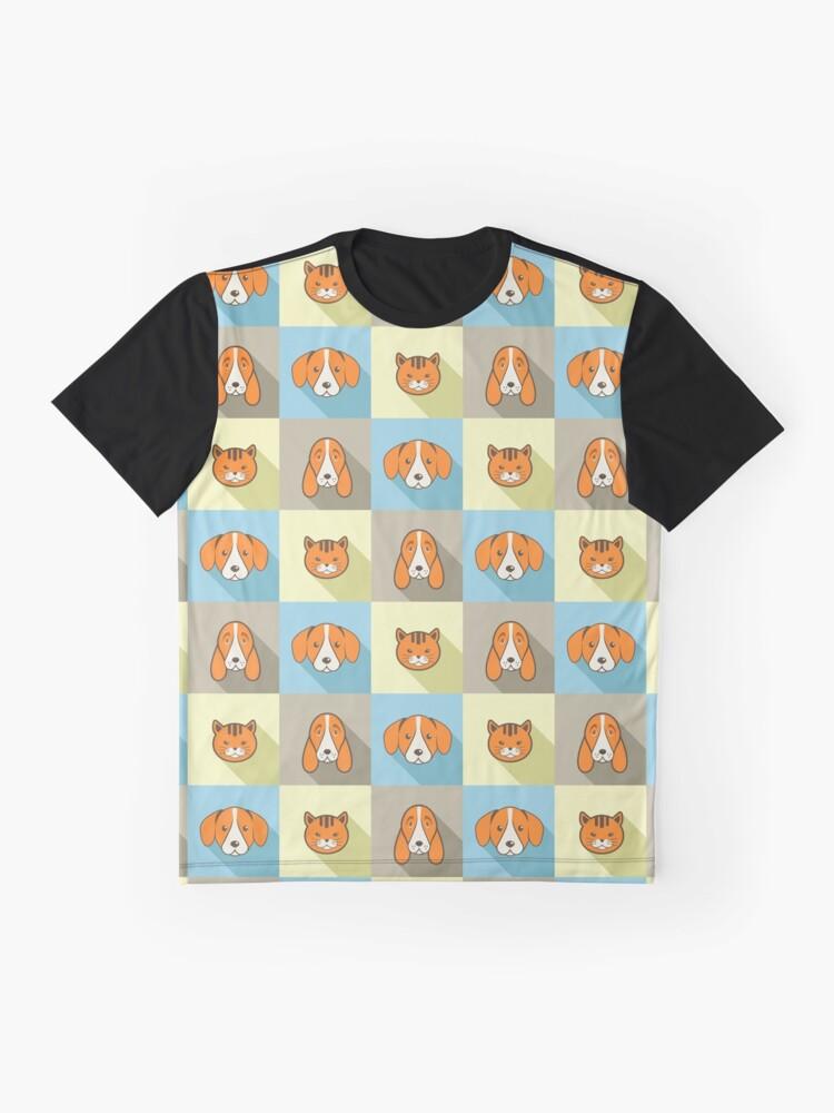 Alternative Ansicht von Zwei Hunde Eine Katze Grafik T-Shirt