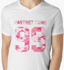 Martinez Twins - Pink Camo Men's V-Neck T-Shirt