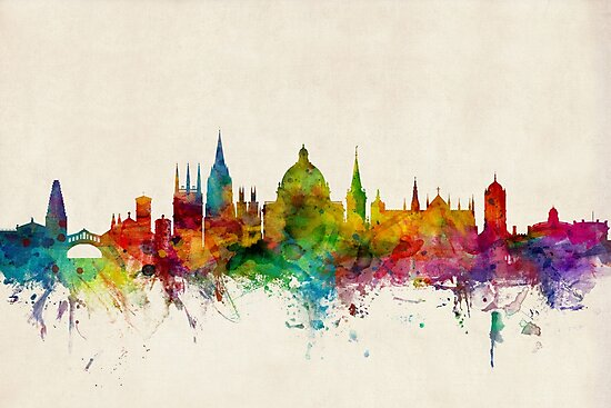 Oxford England Skyline by Michael Tompsett