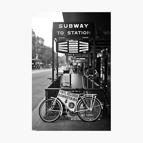 FLINDERS SUBWAY Photographic Print