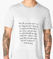 Irish Blessing | May The Road Rise Up To Meet You Men's Premium T-Shirt