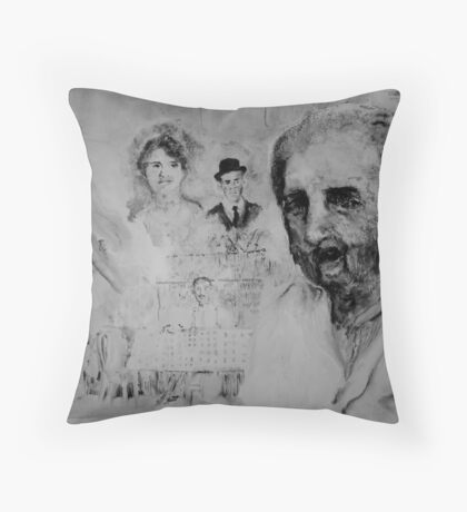 Can you paint a life.. Throw Pillow