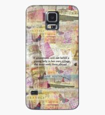 Jane Austen travel adventure quote Case/Skin for Samsung Galaxy