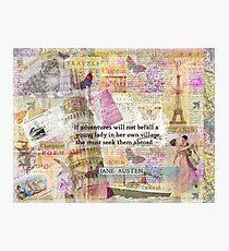 Jane Austen travel adventure quote Photographic Print