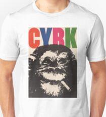 1964 Cyrk Smoking Chimpanzee Polish Circus Poster T-Shirt
