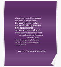 degrees of humanness, jasmin kaur Poster
