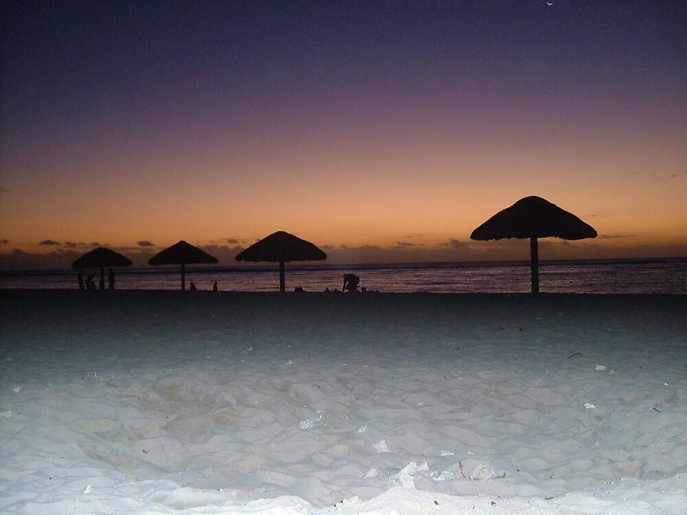 Beach sunset. by Yiashnee Vencat