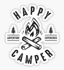 Happy Camper Fire Sticker