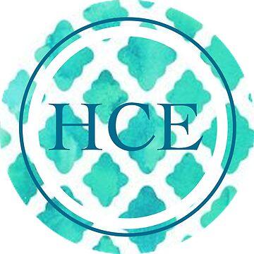 Diseño de círculo monograma (muestra) de hcross214