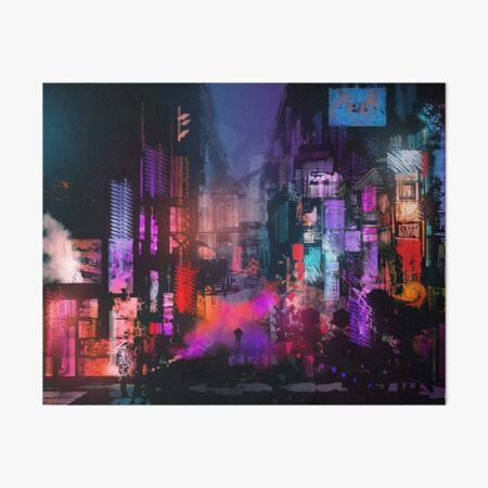 Unleashed at Night Art Board Print