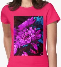 Lavender Flowers with Blue Petals and some Pink T-Shirt