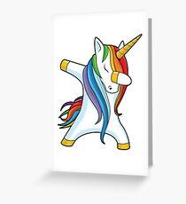 Dabbing Unicorn Shirt Cute Funny Unicorns T shirt Gifts for Kids Girls Boys Women Men Greeting Card