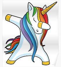 Unicorn Dabbing - Dab Dance Tshirt Poster