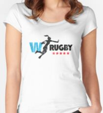 Womens Rugby distressed version Women's Fitted Scoop T-Shirt