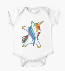 Dabbing Unicorn Shirt Cute Funny Unicorns T shirt Gifts for Kids Girls Boys Women Men Short Sleeve Baby One-Piece