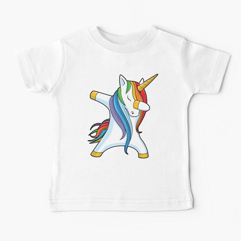 Dabbing Unicorn Shirt Cute Funny Unicorns T shirt Gifts for Kids Girls Boys Women Men Baby T-Shirt
